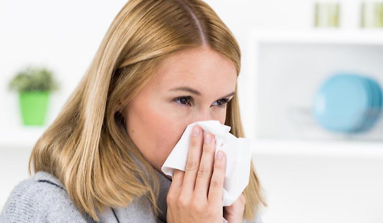 Eine Sinusitis geht oft mit einer Erkältung einher
